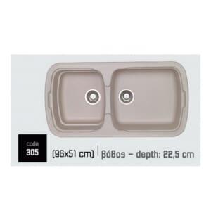 Συνθετικοί-Νεροχύτες-Natura-305